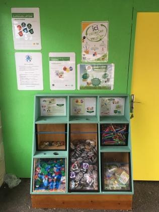 Le meuble de collecte des écoliers de l' école publique d'Astaffort